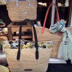 RAFFIA COLOR HANDLE BAG